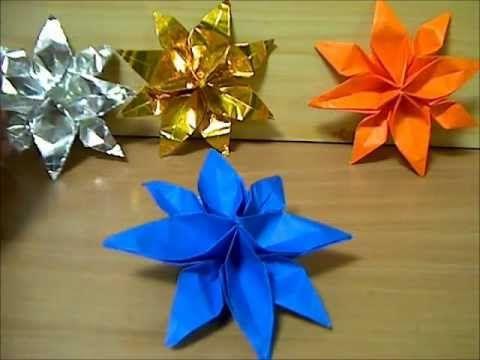クリスマス 折り紙 折り紙で作る花 : jp.pinterest.com