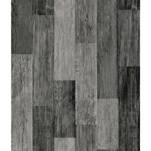 Nuwallpaper Reclaimed Wood Plank Natural Textured Vinyl Strippable Wallpaper Covers 30 75 Sq Ft Nu1690 The Home Depot Weathered Wood Wood Vinyl Wood Planks
