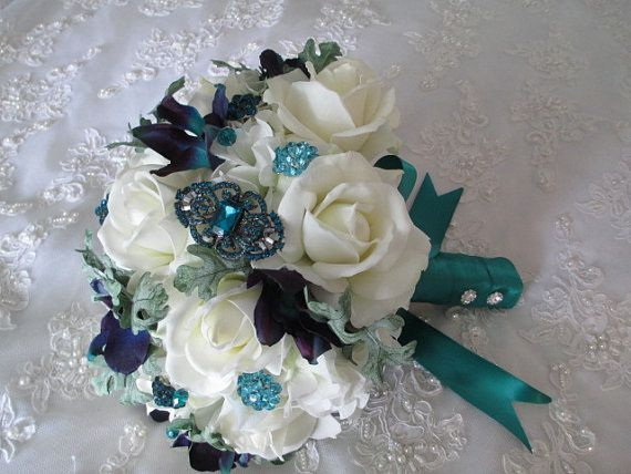 Reserved Listing for.......Ebony......Teal blue by modagefloral, $294.95