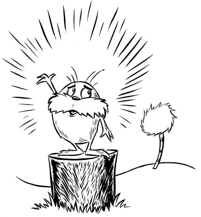 coloring page Dr Seuss the Lorax - Dr Seuss the Lorax | nursery ...