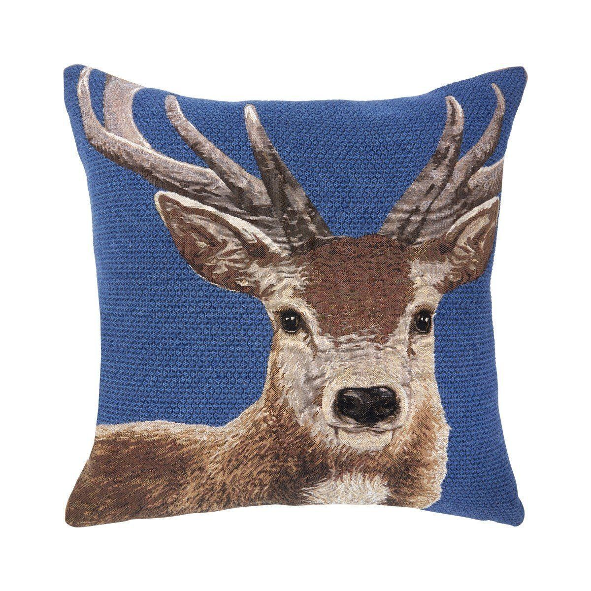 Pleasing Sostene Cobalt Deer Throw Pillow Products In 2019 Throw Inzonedesignstudio Interior Chair Design Inzonedesignstudiocom