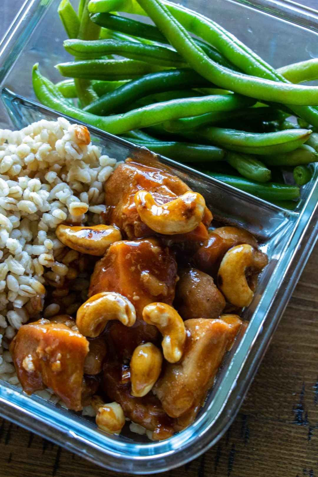 Lunch Meal Prep Cashew Chicken is a healthy Chinese food