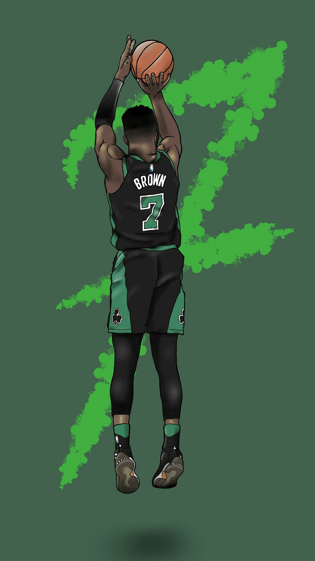 Jaylen Brown from Boston Celtics Phone Wallpaper by Socent, visit the Instagram @socentism