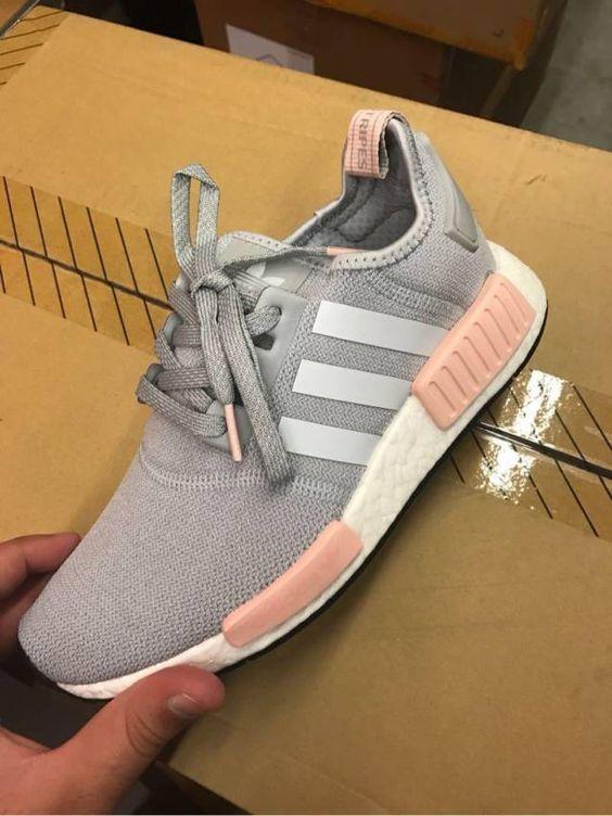 adidas women's nmd runner gray and pink