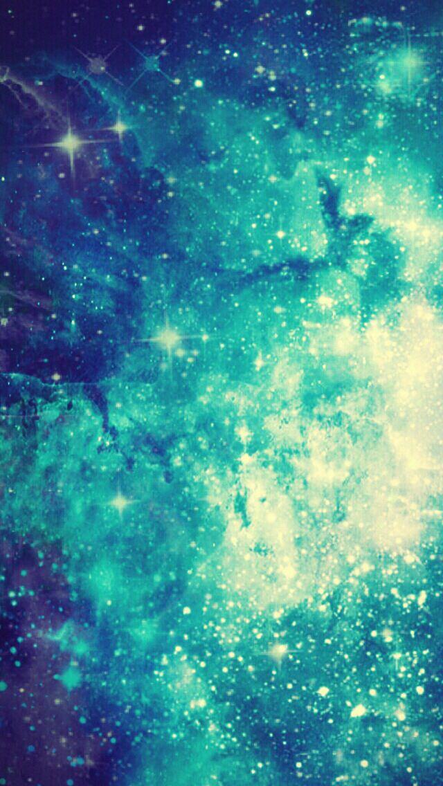 Galaxy Background Blue Galaxy Wallpaper Galaxy Wallpaper Teal Wallpaper Iphone