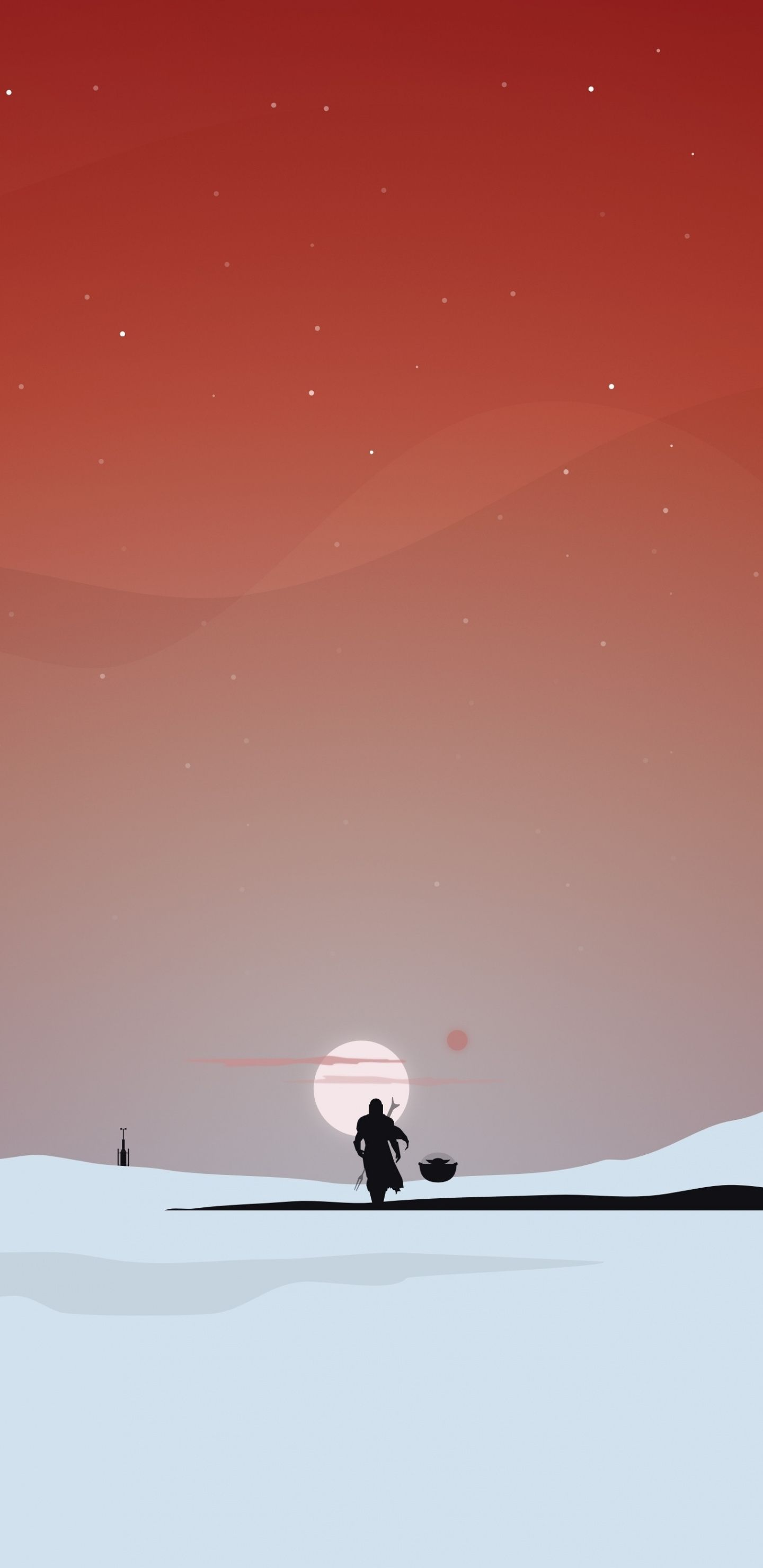 1440x2960 Minimal Star Wars The Mandalorian Silhouette Sunset Landscape 2020 Wallpaper In 2020 Star Wars Background Star Wars Drawings Star Wars Wallpaper