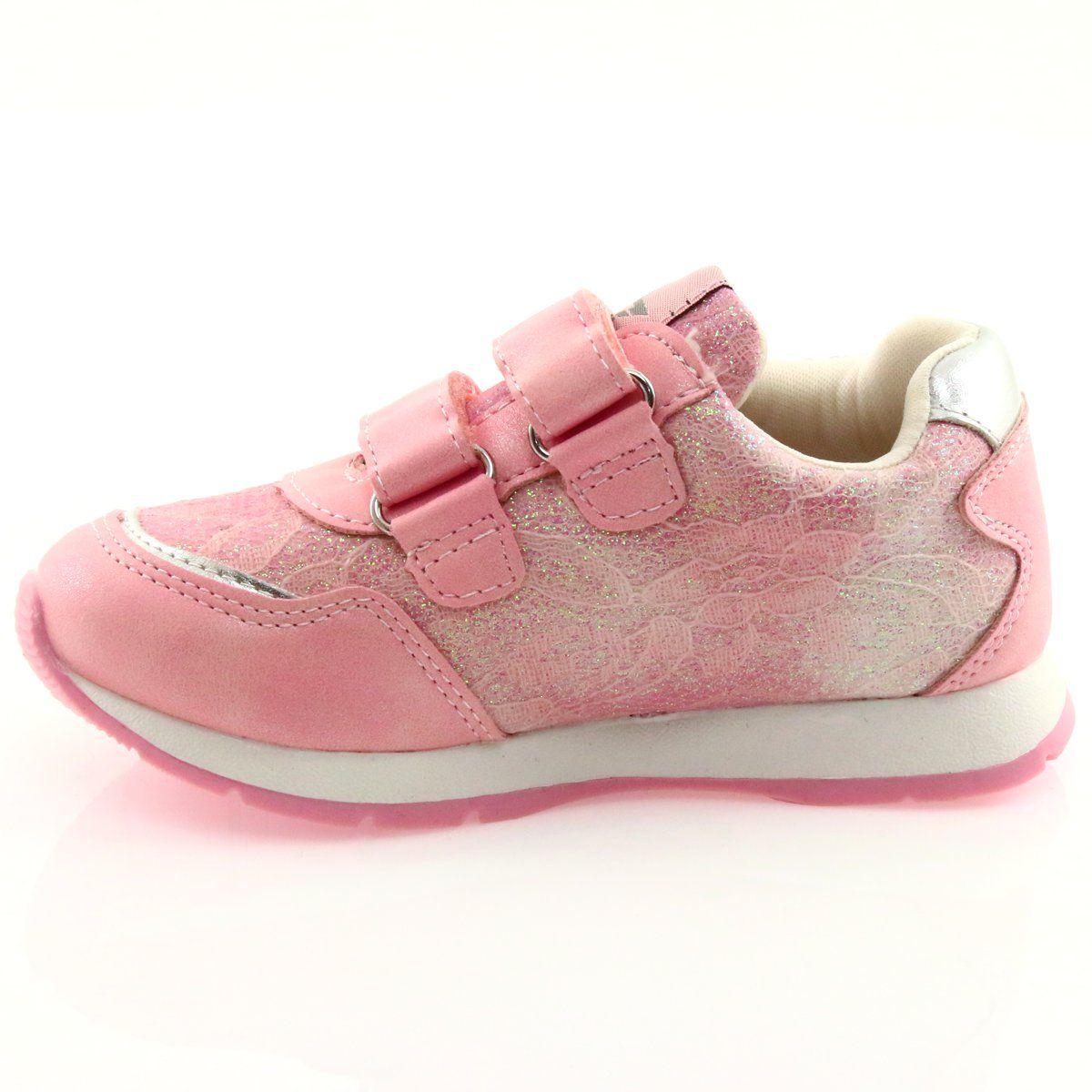 Buty Sportowe Dzieciece Dla Dzieci Americanclub Buty Sportowe Wkladka Skora American Club Gc11 Rozowe Shoes Kid Shoes Sport Shoes