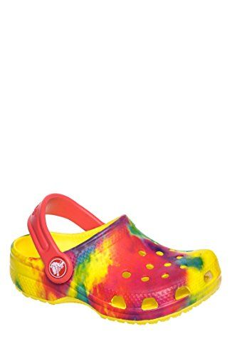 Tie-Dyed Boys Clog Classic Slingback Garden Shoes