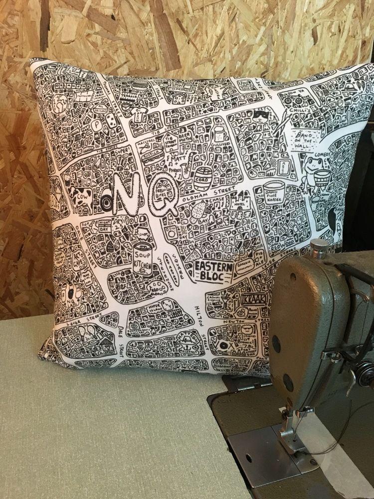 Northern QuarterDoodle Map Cushion £35