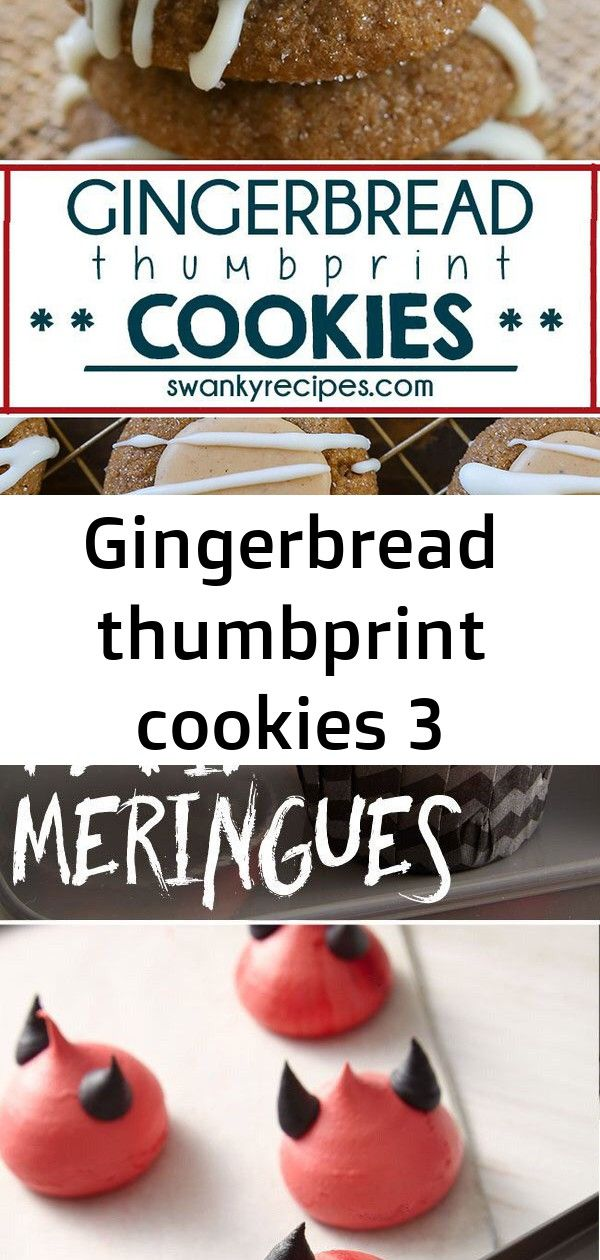 Gingerbread thumbprint cookies 3 Gingerbread Thumbprint Cookies  40 PartyReady Halloween Treats Wow Your Guests  Chief Health This easy no bake pie has a layer of cheesec...
