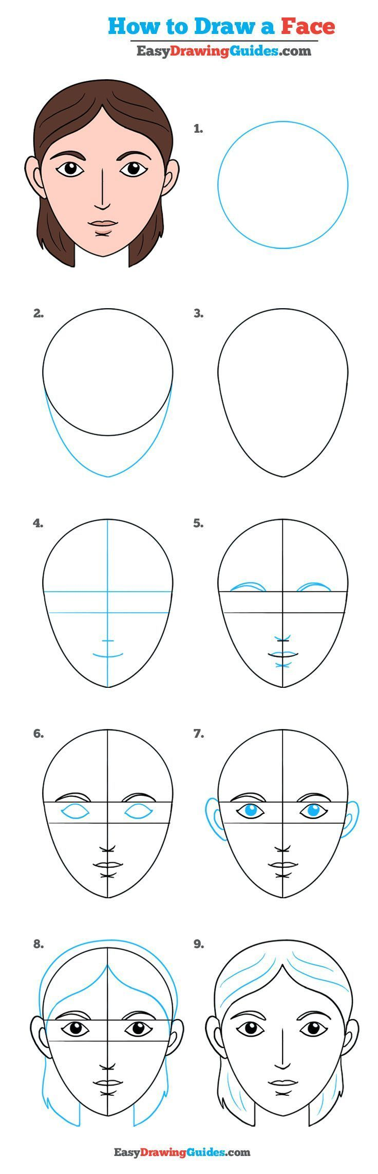 how to draw a face really easy drawing tutorial drawing handouts