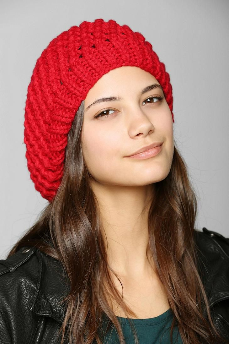 Open-Knit Beret #urbanoutfitters