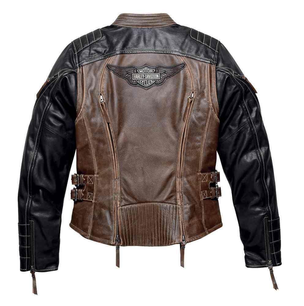 Harley Davidson Women S Distressed Capitol Leather Jacket Brown 98105 16vw Leather Jacket Men Leather Jacket Harley Davidson Leather Jackets [ 1001 x 993 Pixel ]