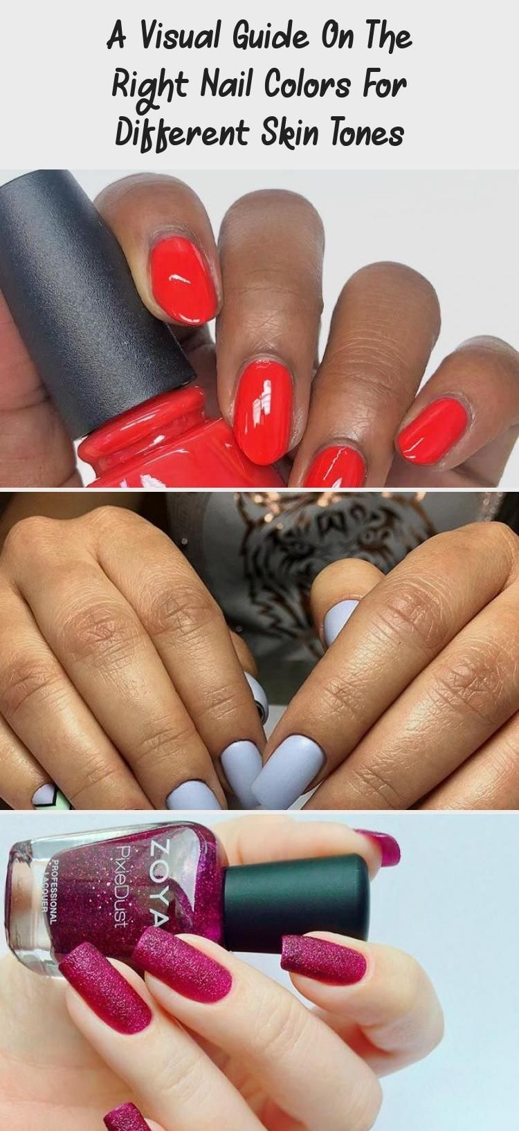 A Visual Guide On The Right Nail Colors For Different Skin