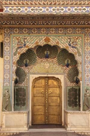 'India, Rajasthan, Jaipur, Peacock Door at City Palace' Photographic Print - Alida Latham | Art.com