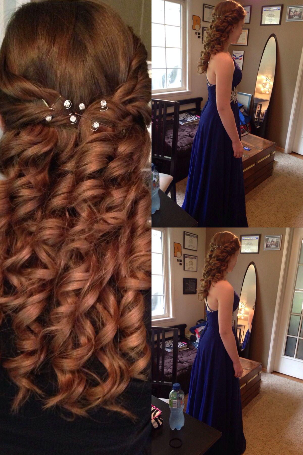 Easy half up half down curly hair style lovely locks