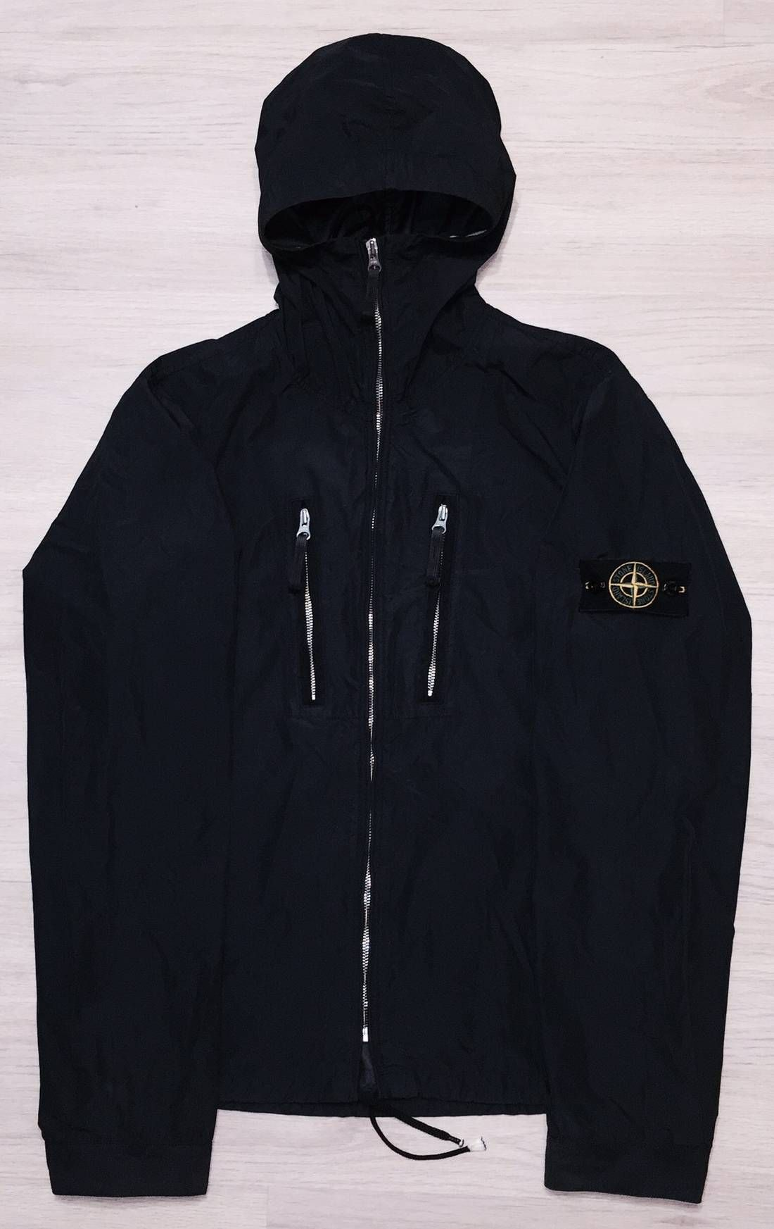 e35eb402a591 Stone Island Lightweight Ninja Windbreaker Jacket With Hi Neck And ...