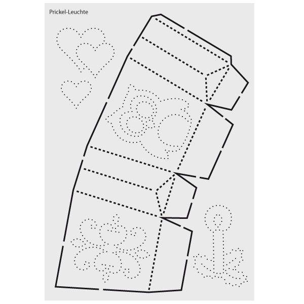 design schablone nr 1 prickel leuchte din a4 basteln basteln prickeln und vorlagen. Black Bedroom Furniture Sets. Home Design Ideas