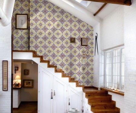 Papel pintado colecci n tiles coordone wallpaper papeles pintados papel pintado papel - Papel pintado rustico ...