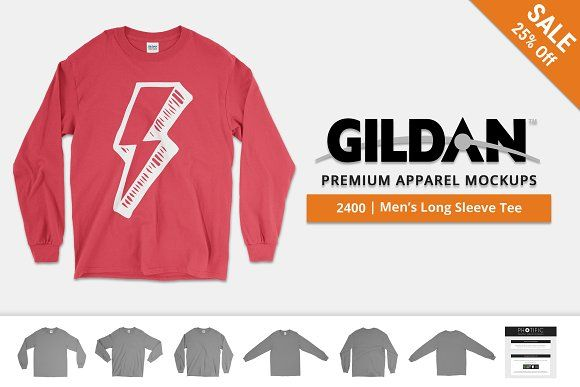 Download Gildan 2400 Long Sleeve T Shirt Clothing Mockup Long Sleeve Mockup