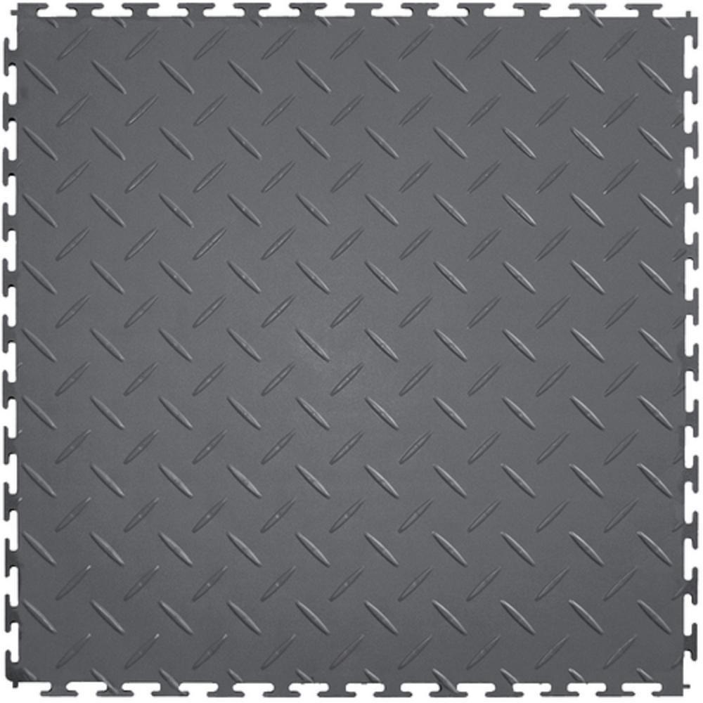 Supreme Garage Tiles Diamond Plate 1.71 ft. Width x 1.71