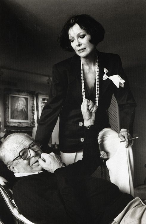 Billy Wilder and his wife Audrey photographed by Helmut Newton at their home in Los Angeles, 1985