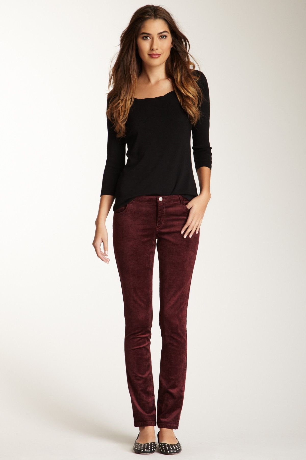 b1490d955822 Barbara Lesser Corduroy Cigarette Straight Leg Pant | What to Wear ...