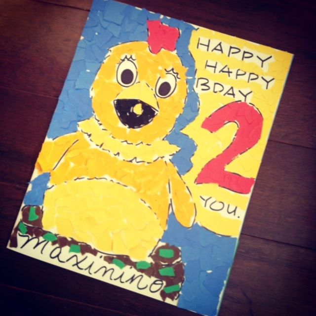 Maxs 2nd Birthday Card for Chica Sprout TV http