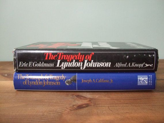 Lyndon B Johnson Book Set Vintage Presidential by jessamyjay