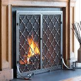 Found It At Wayfair 1 Panel Geometric Fireplace Screen Fireplace Screens With Doors Fireplace Doors Fireplace Screens
