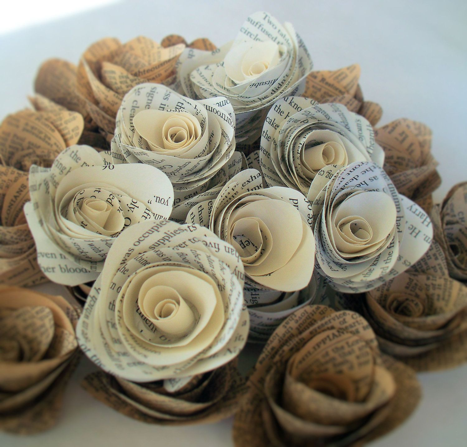 50 paper flowers made from vintage book pages flowers books and 50 paper flowers made from vintage book pages by kristamaestudioke the solid color center mightylinksfo