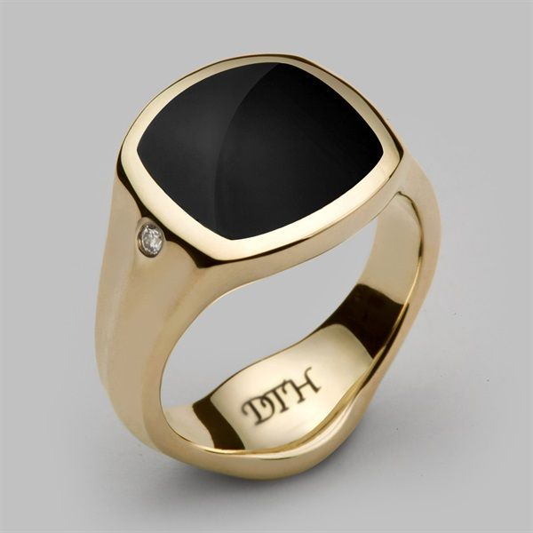 DesignB London Gold Engraved Signet Ring - Gold a7pkw