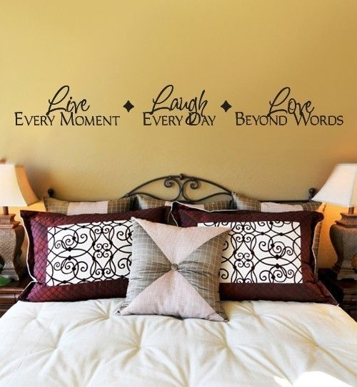 Wall Decal LIVE every moment LAUGH every day LOVE beyond words Extra ...