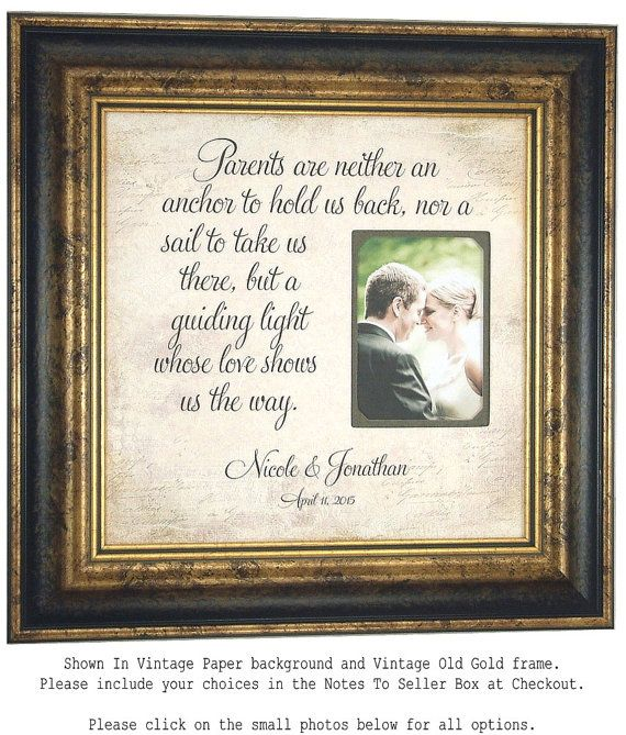 Wedding Gift To Parents Of The Bride Groom By PhotoFrameOriginals