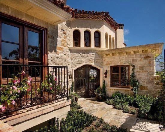 Fachadas de casas Mediterranea - I #casasdecampominimalistas