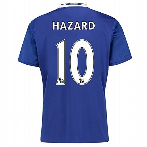 Men's Chelsea FC 2017/2018 #10 Eden Hazard Home Football Soccer Jersey In  Blue