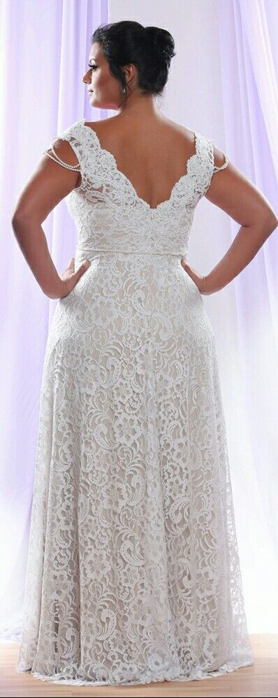 The V back of our Prada curvy bridal gown. Studio Levana | Plus size ...
