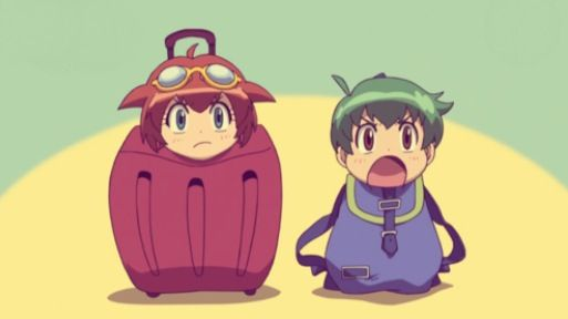 Madoka and Kenta as luggage. Beyblade Metal Fusion ...