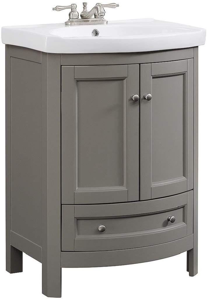 Best Runfine Rfva0069G 24 Inch Wide All Wood Modern Gray Vanity 400 x 300