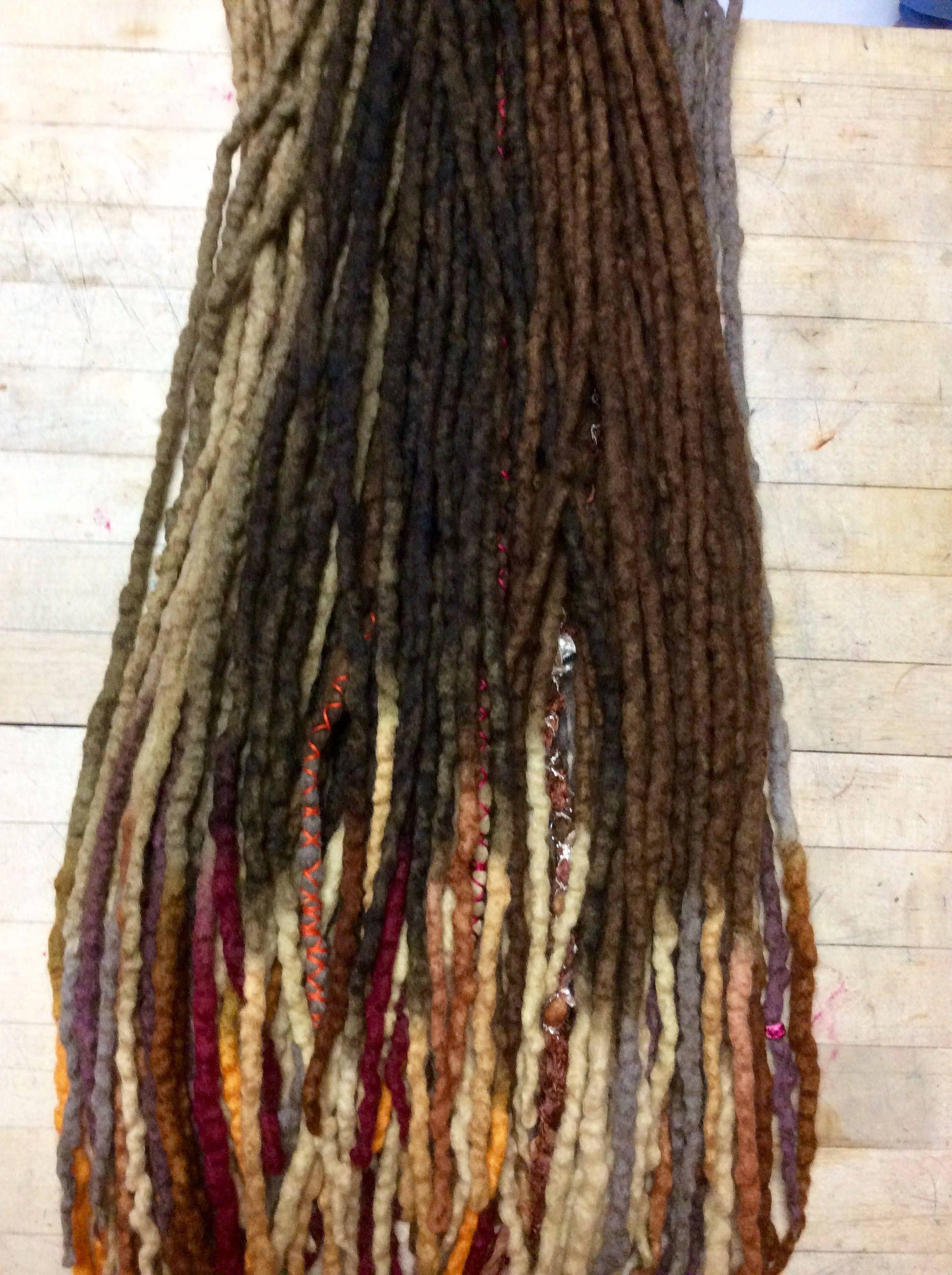 Wool Dreads Hair Extensions Wool Dreadlocks Set Of 60 Dreadlock By