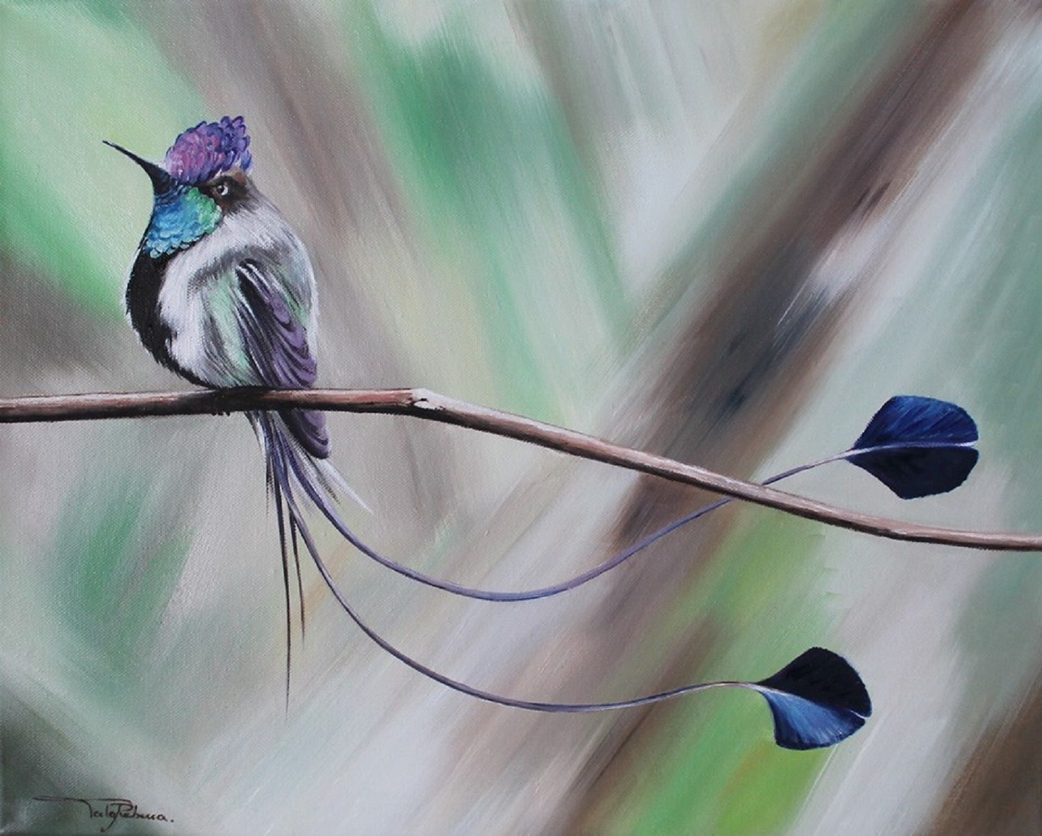 "Oil painting ""Bird #4"""