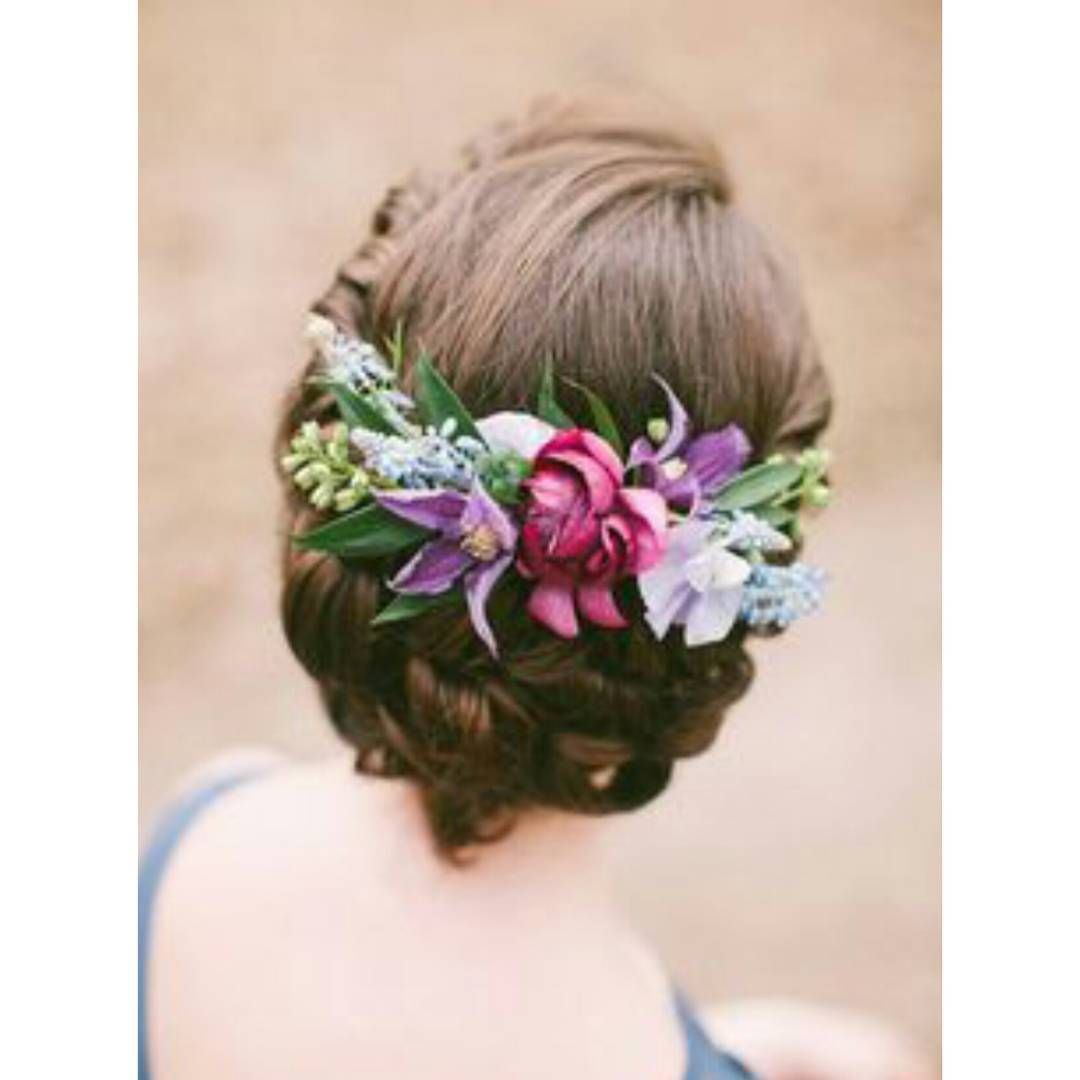 Double tap tag your friend konsep wedding mana yang kamu mau tpsheader today incorporating a flower crown to an updo or loose locks is an easy way for brides to add subtle color texture and natural beauty to a izmirmasajfo Gallery