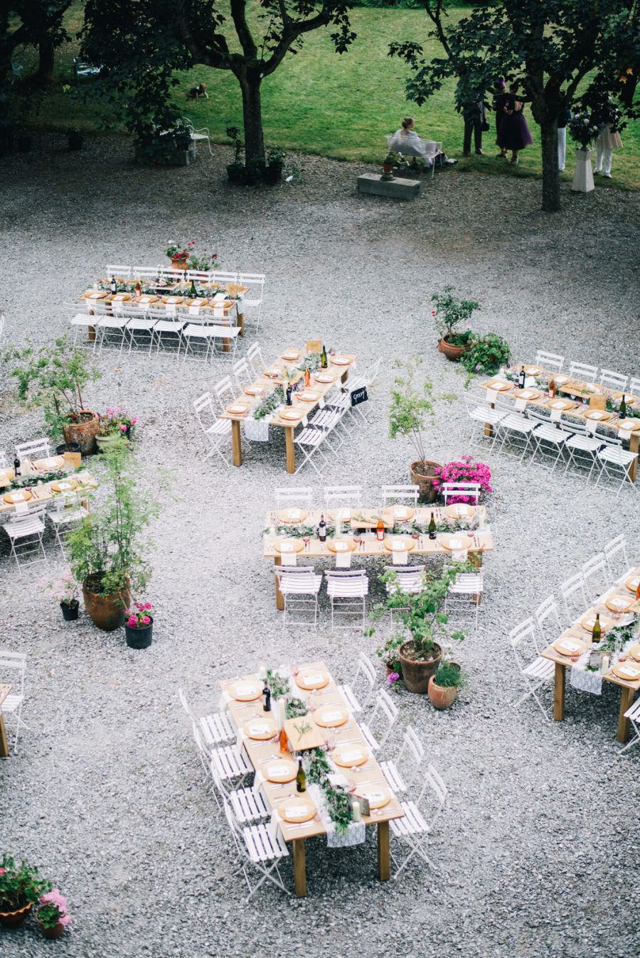 Wedding decorations outdoor reception october 2018 A Gorgeous Alfresco Wedding in France Thatus  Vegan in