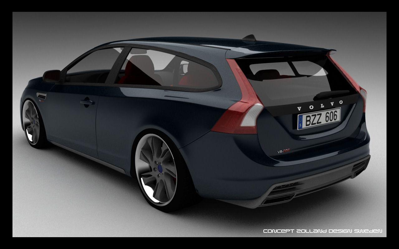 2014 Zolland Design Volvo V60 V8 Two Door Estate Concept Black 1 1280x800 Wallpaper Volvo V60 Volvo Cars Volvo