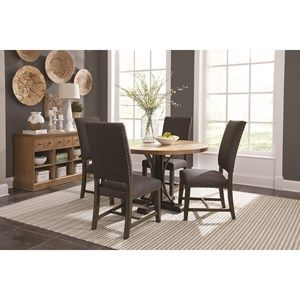 Bishop Dining Room Group With Parson Chairs And Round Table