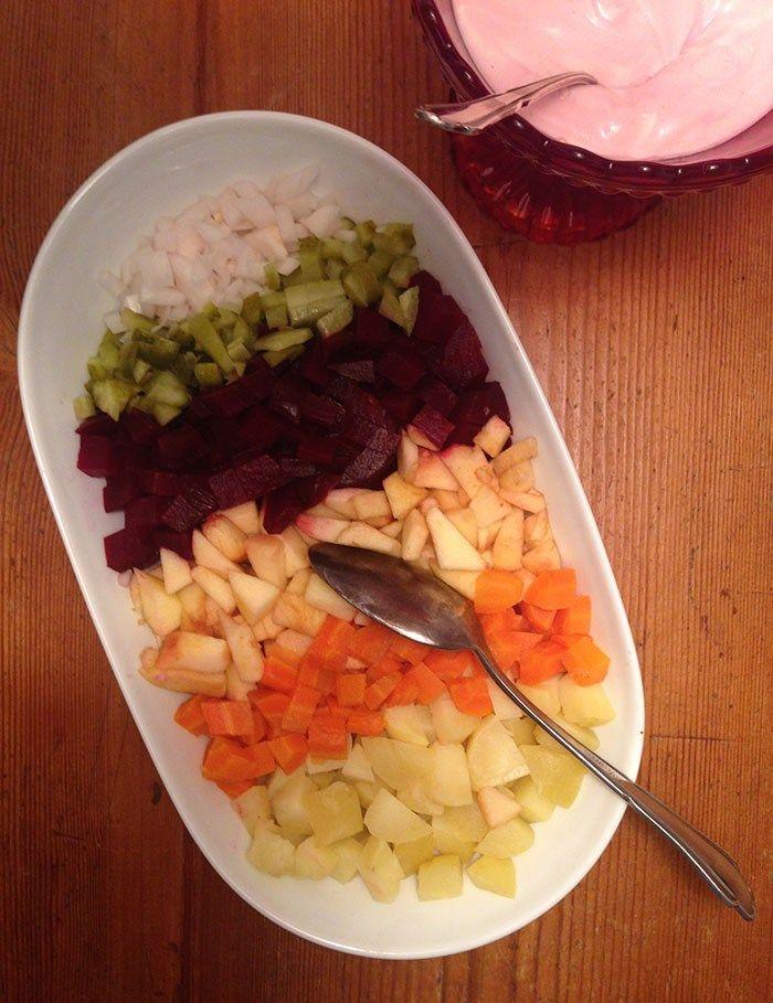 Finnischer Weihnachtssalat: Rote Bete Salat (Rosolli | Festtagsessen ...