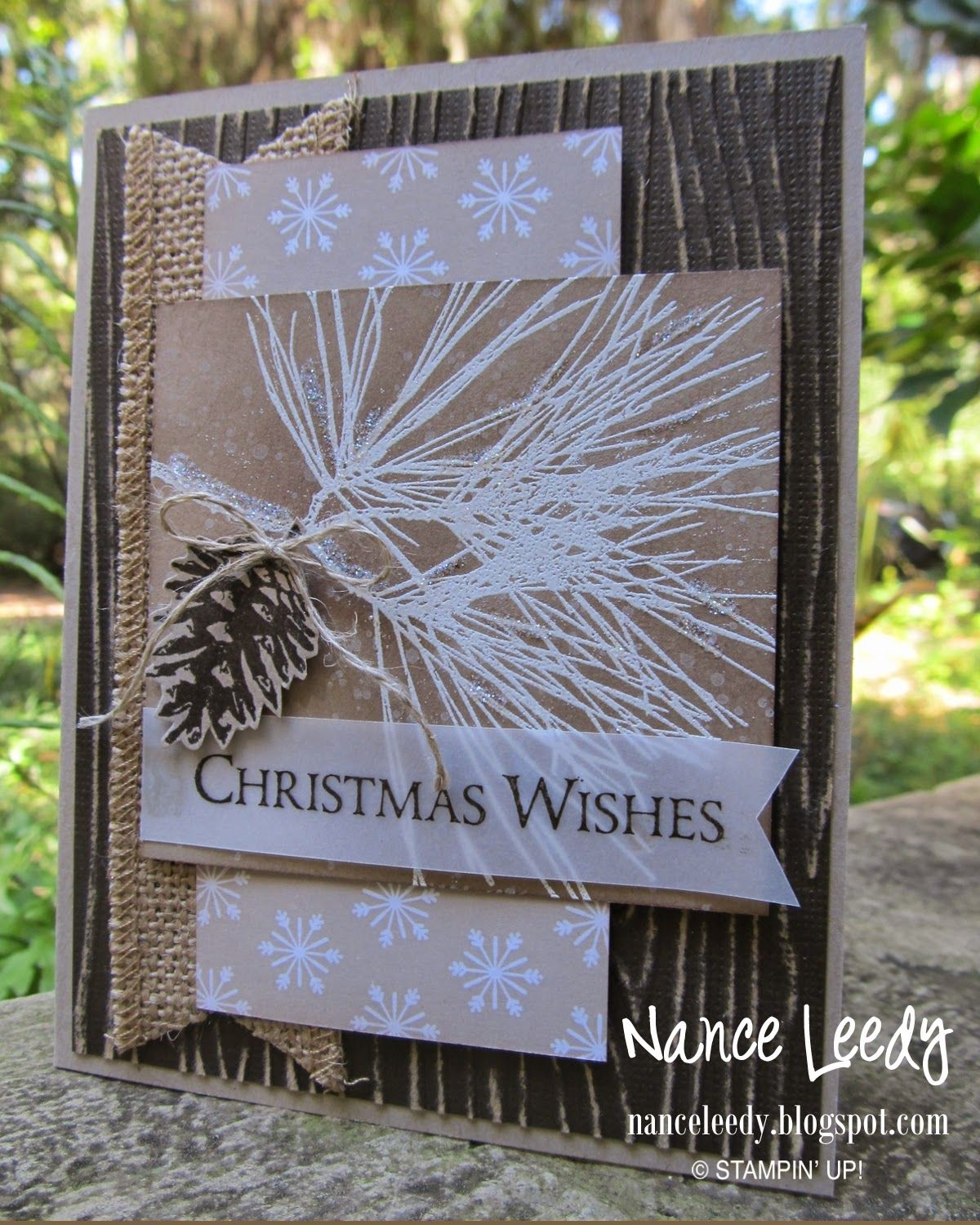 Ornamental Pine for Merry Monday {MM133} #stampin#39;up!cards