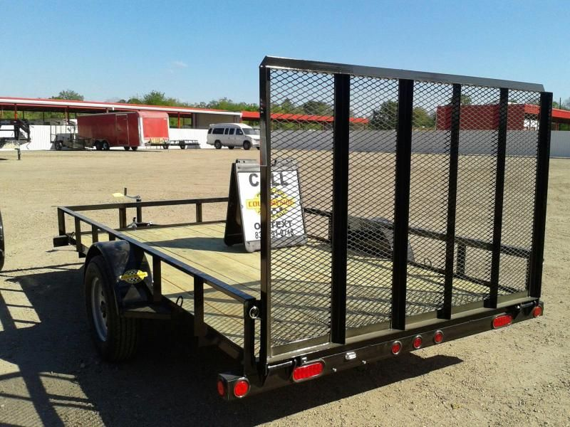 2017 Load Trail 77 X 12 Single Axle With Tail Gate Utility