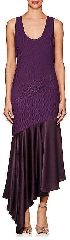 Womens Mixed-Knit & Silk Charmeuse Dress Prabal Gurung yI8KbhO6IO