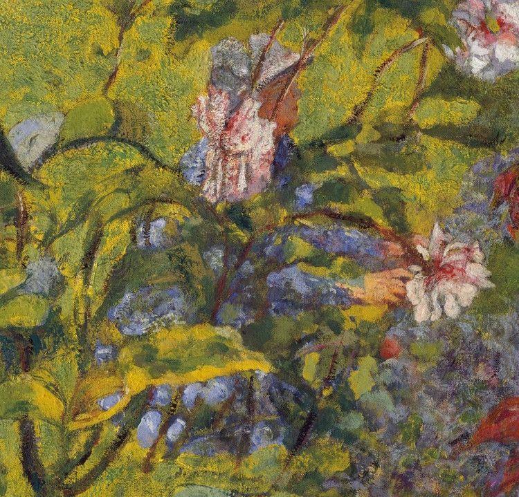 Edouard Vuillard, detail from Garden at Vaucresson,1920, Distemper on canvas